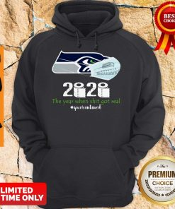 Seattle Seahawks Mask 2020 The Year When Shit Got Real #Quarantined Hoodie