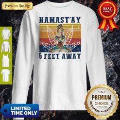 Official Namast'ay 6 Feet Away Yoga Vintage Sweatshirt