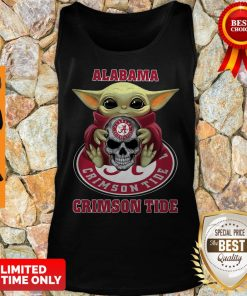 Baby Yoda Hug Skull Alabama Crimson Tide Tank Top