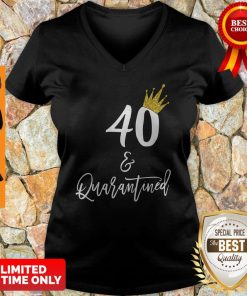 Official 40 Queen And Quarantined V-neck