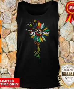 Funny Sunflower Blessed Dog Groomer Tank Top