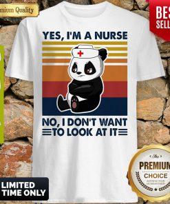 Oficial Bear Panda Yes Im No I Dont Want To Look At It Vintage Shirt