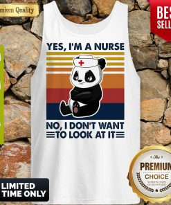 Oficial Bear Panda Yes Im No I Dont Want To Look At It Vintage Tank Top