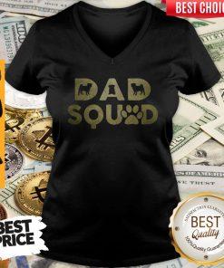 Premium Dad Squad Pug Dog Fathers Day V-neck