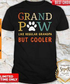 Top Grand Paw Like a Regular Grandpa But Cooler Dog Love Vintage Shirt