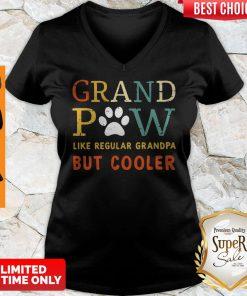 Top Grand Paw Like a Regular Grandpa But Cooler Dog Love Vintage V-neck