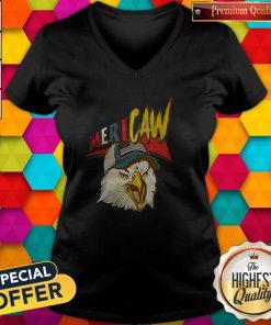 Awesome Eagle Mericaw V-neck