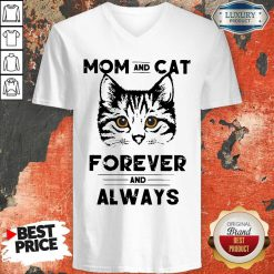 Awesome Mom And Cat Forever And Always V-neck