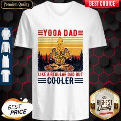 Hippie Yoga Dad Like A Regular Dad But Cooler Vintage V-neck