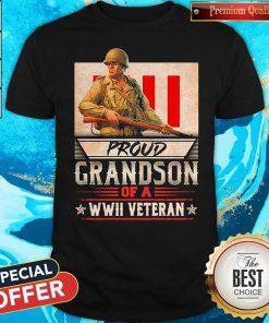 Nice Proud Grandson Of A Wwii Veteran ShirtNice Proud Grandson Of A Wwii Veteran Shirt