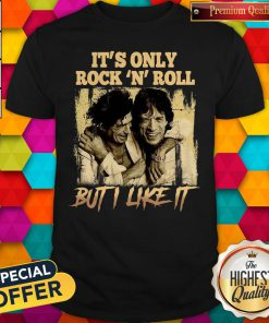 Official Kutee Boutique Funny It's Only Rock 'N Roll But I Like It Vintage Shirt