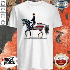 Premium American Flag Derssage Horse Shirt