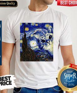 Premium Cat Kitten Van Gogh Starry Night ShirtPremium Cat Kitten Van Gogh Starry Night Shirt