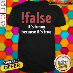 Premium False It's Funny Because It's True Shirt