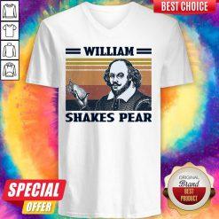 Premium William Shakes Pear Vintage V-neck