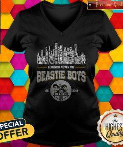 Top Legends Never Die Beastie Boys 1981 2012 V-neck