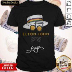 Nice Elton John Hat Signature Shirt