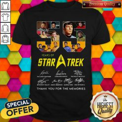 Official 55 Years Of Star Trek Thank You For The Memories Signatures Shirt