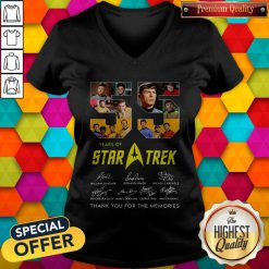 Official 55 Years Of Star Trek Thank You For The Memories Signatures V-neck