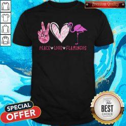 Cute Peace Love Flamingos Diamond Shirt
