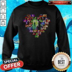Maleficent Cartoon Heart Happy Halloween Premium Nice SweatShirt