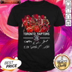 Beautiful Toronto Raptors Team Players Signatures Shirt