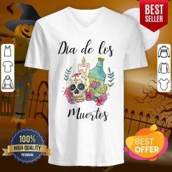 Dia De Los Muertos Day Of The Dead Sugar Skull V-neck