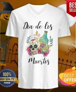 Dia De Los Muertos Day Of The Dead Sugar Skull V-neck