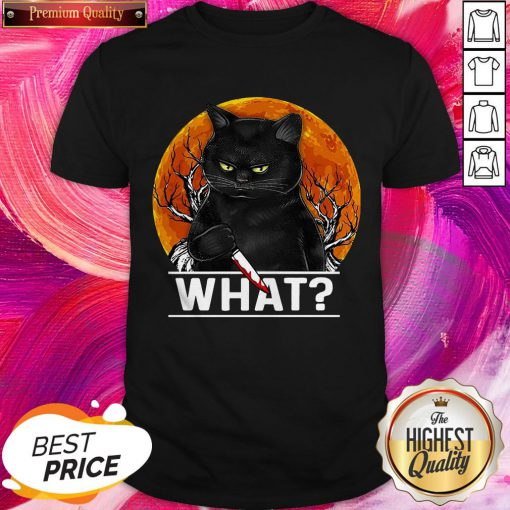 Fantastic Michael Myers Black Cat Halloween What Shirt