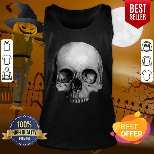 Half Skull Dia De Muertos Day Of Dead Tank Top