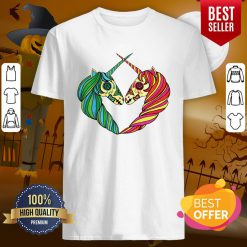 Heart Unicorns Day Of The Dead Muertos Shirt