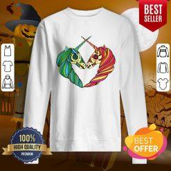 Heart Unicorns Day Of The Dead Muertos Sweatshirt