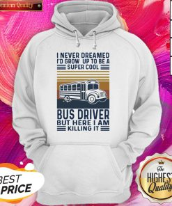 I Never Dreamed I'd Grow Up To Be A Super Cool Bus Driver But Here I Am Killing It Vintage Hoodie