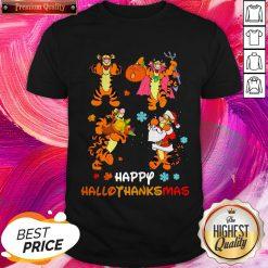 Premium Tigger Happy Hallothanksmas Pumpkin Shirt