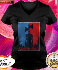 Pro Halloween Scary Siren Head Creature Vintage Meme Character Gifts V-neck