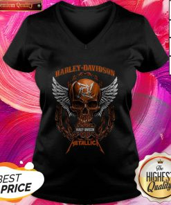 Skull Motor Harley Davidson Metallica Halloween V-neck