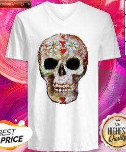 Sugar Skull Day Of Dead Dia De Muertos V-neck