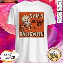 Super Nice Sam's Rules Of Halloween Shirt