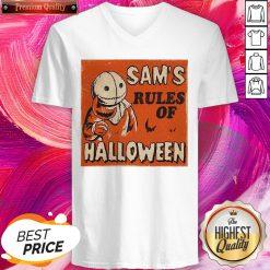 Super Nice Sam's Rules Of Halloween V-neck