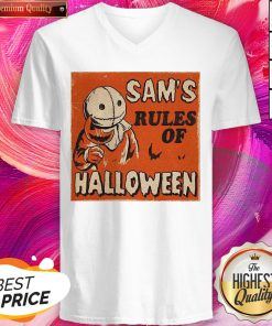 Super Nice Sam's Rules Of Halloween V-neck