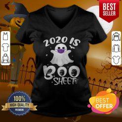 Wonderful Halloween Is Boo Ghost Wear Mask 2020 Gift V-neck
