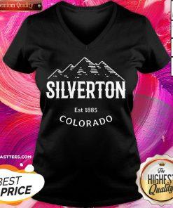 Attractive Silverton Colorado Vintage Rocky Mountain Novelty V-neck - Design By Thelasttees.com