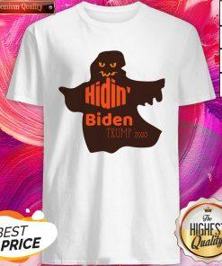 Funny Halloween Costume Hidin' Biden Trump 2020 Shirt