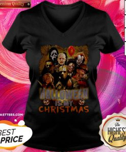 Happy Horror Characters Halloween Is My Christmas V-neck