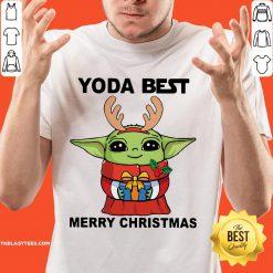 Nice Yoda Reindeer Best Merry Christmas Shirt