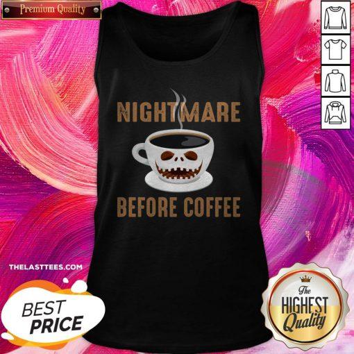 Premium Nightmare Before Coffee Halloween Tank Top