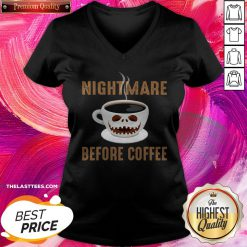 Premium Nightmare Before Coffee Halloween V-neck