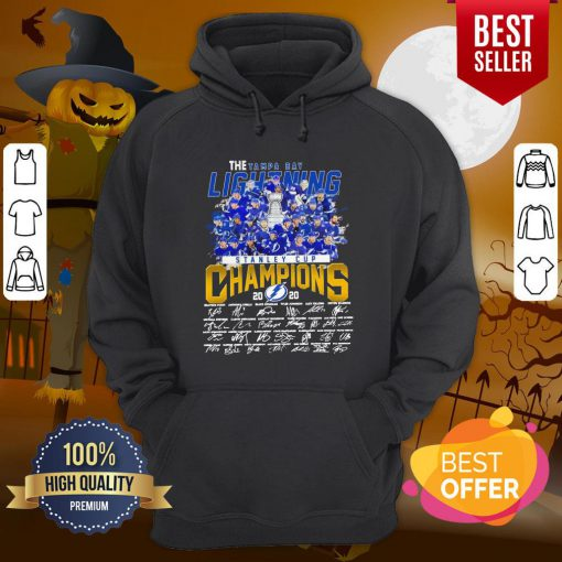 Pro The Tampa Bay Lightning Stanley Cup Champions 2020 Signatures Hoodie