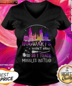 Top Disney Hogwarts Wasn't Hiring So I Teach Muggles Instead V-neck