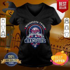 Top Minnesota Twins 2020 Al Central Division Champions American V-neck